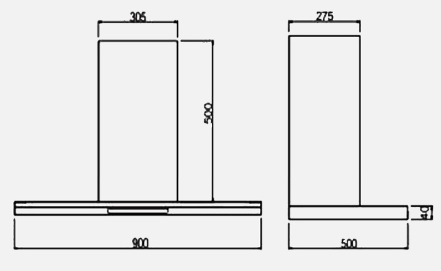 Alba_90_installation  hood wall mounted nagold hafele bangalore