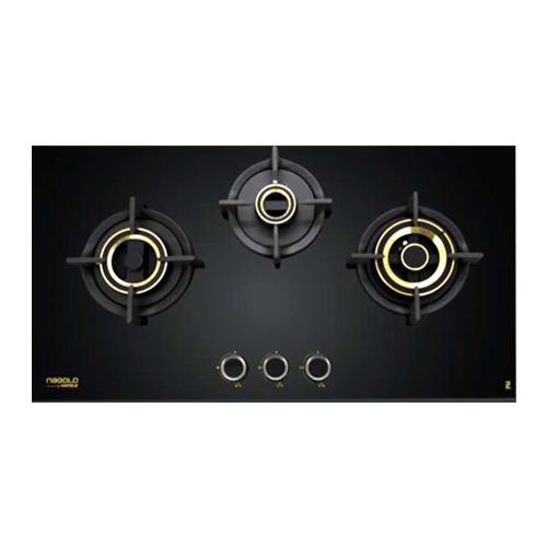 ZETA 390 - 90cm - 3 Brass Burner by WS Hafele