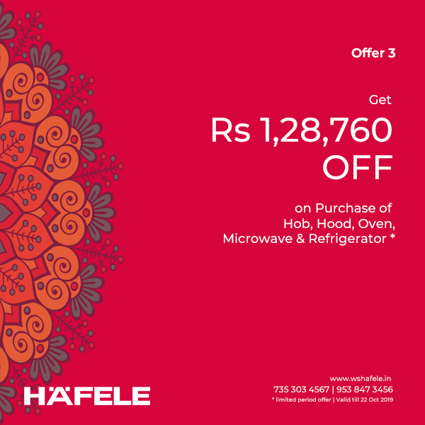 Hafele Shagun Offer 2019 - Discount on Hobs, Chimneys, Hoods & Ovens